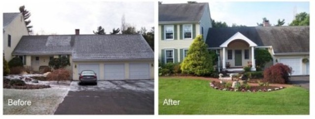 Before and After New Portico